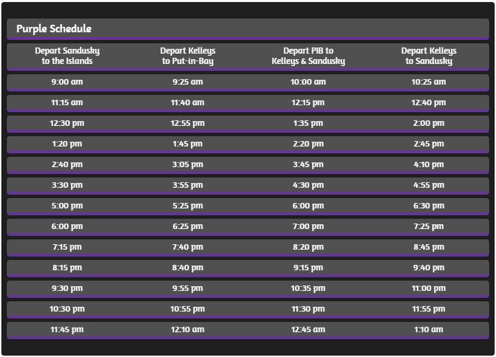 Jet Express Schedule